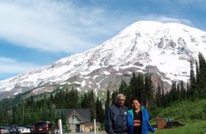 Timothy and Anita at Mt. Rainier in Washington.