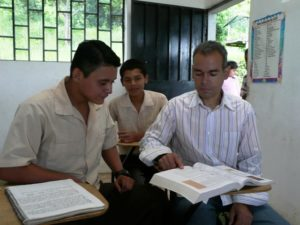 Javier with his teacher Hernando.