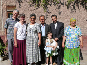 Mario and Lena Clerc, Baba and Zsigmund Bela, Gàbor and Terez Demeter and their granddaughter.