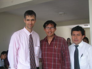 Bob Henricksen with Brother Juan and Dr. Monteza.