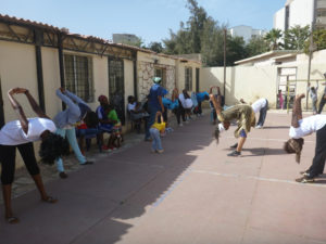Exercises at the health workshop.