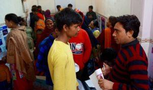 The health expo in New Delhi, India