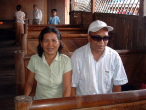 Rommel, who is blind, with his guide Liza.