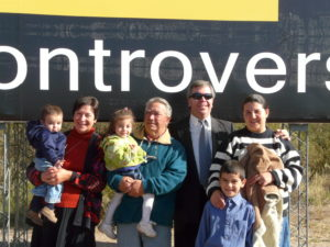 Oviedos family, owners of the land where a billboard is located.