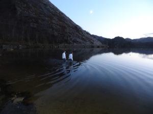 Evening baptism.