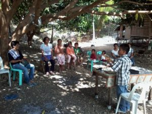 Sharing the gospel in the villages of the Philippines